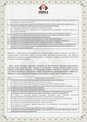 Свидетельство о допуске СРО с приложениями